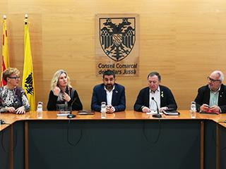 Reunió al Consell Comarcal del Pallars Jussà