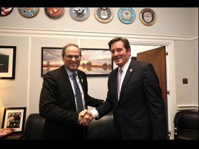 El president Torra, amb el congressista John Garamendi