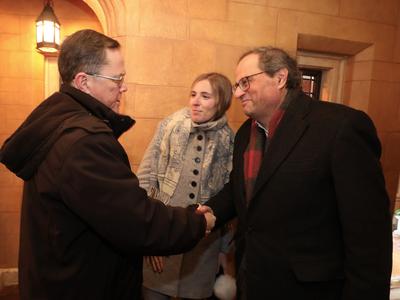 El president Torra s'ha reunit amb el director del PEN America, Thomas Melia (foto: Ruben Moreno)
