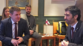The Catalan minister Jordi Puigneró met this morning with the prime minister of the Faroe Islands, Aksel V. Johannesen