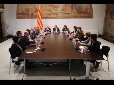 El president s'ha reunit amb els membres del Consell assessor per a l'impuls del Fòrum Cívic i Social pel Debat Constituent