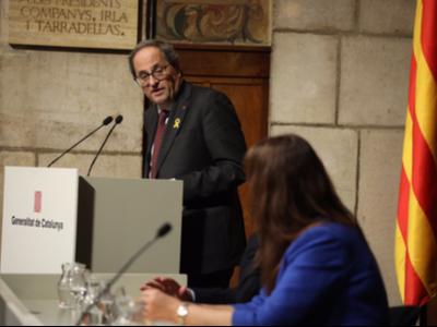 El president Torra ha clos l'Any Montserrat Abelló (foto: Ruben Moreno)