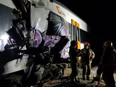 Imatge dels trens sinistrats