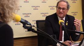El president Torra avui durant l'entrevista a Catalunya Ràdio
