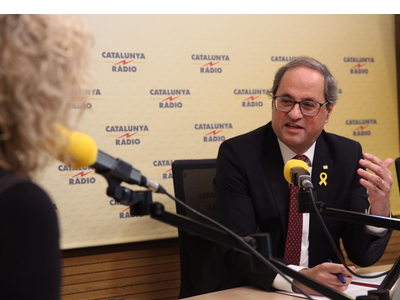 This morning, the president of the Government of Catalonia, Quim Torra, said: