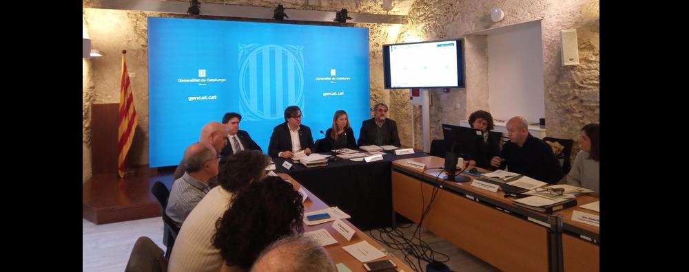 Reunió de la Comissió territorial d'urbanisme de Girona.