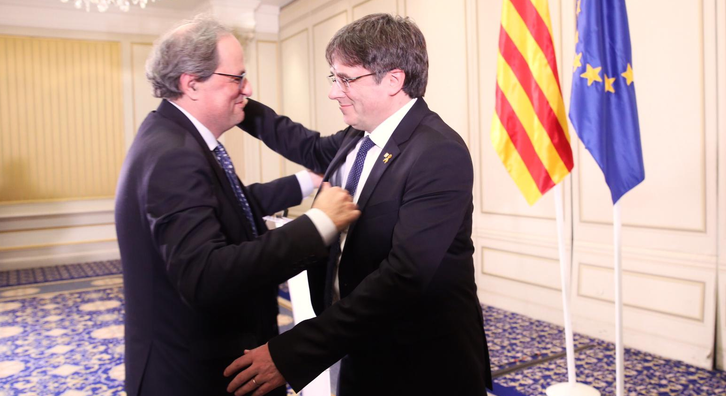 Yesterday evening, Catalan president Quim Torra and former president Carles Puigdemont spoke in Brussels on the topic