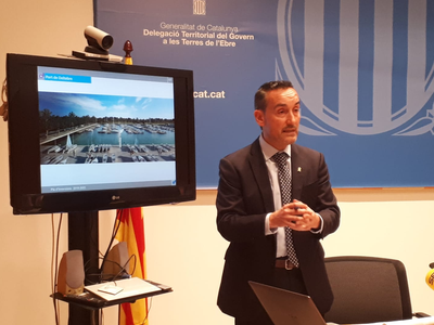 El<br />                                       gerent de Ports, Joan Pere Gómez,<br />                                       durant la presentació.