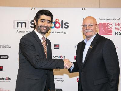 El conseller Puigneró amb el CEO i director del GSMA, John Hoffman