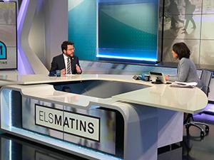Fotografia de l'entrevista del vicepresident a TV3