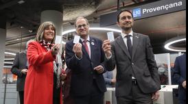 El president ha inaugurat la nova estació de Provençana