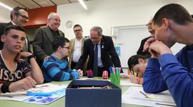 El president Torra i el conseller Bargalló a l'Escola Àuria d'Igualada (foto: Rubén Moreno)