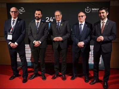 El president Torra ha presidit la 24a nit de les Telecomunicacions (foto: Jordi Bedmar)