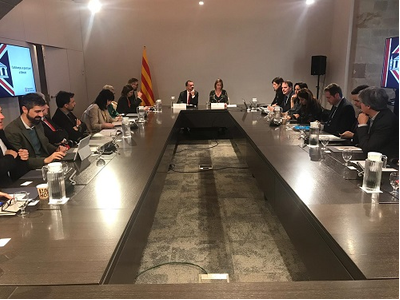 The Minister for Foreign Affairs, Alfred Bosch, and the Minister for Business, Àngels Chacon, today presented the Catalan Government's plan for citizens and companies to deal with Brexit based on clear information. One of the resources expected to have the biggest impact is the new information website exteriors.gencat.cat/brexit and the email address for enquiries: brexit.exteriors@gencat.cat.