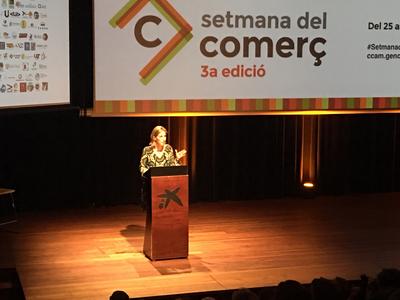 La consellera Chacón, en la inauguració de la 3a Setmana del COmerç