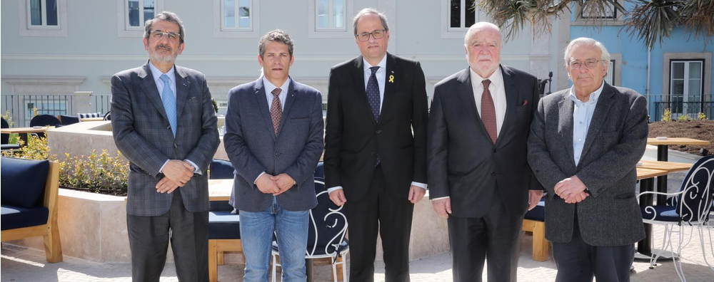 During a visit to Lisbon today, the president of the Government of Catalonia, Quim Torra, said: