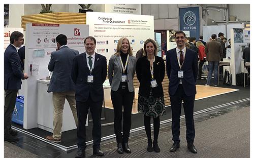 (D'esquerra a dreta) Joan Romero, conseller delegat d'ACCIO; Matilde Villarroya, directora general d'Indústria; Àngels Chacón, consellera d'Empresa i Coneixement, i Martí Adroher, director de l'oficina d'ACCIO a Alemanya