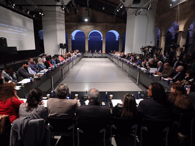 President Torra and the Minister of Labour this morning headed an anti-racism round table with representatives of political parties and entities, leading to the approval of a Catalan national agreement in support of social harmony