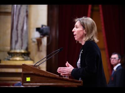 La consellera Chacón avui en el Ple del Parlament