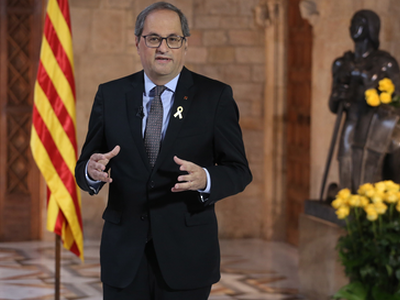 Institutional declaration by President Quim Torra for the Diada de Sant Jordi (St. George's Day)