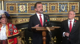 The Minister for Foreign Action, Institutional Relations and Transparency, Alfred Bosch, took part today in an official Westminster reception to mark St. George's Day.