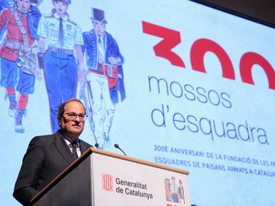 El president, durant la seva intervenció en l'acte. Autor: Jordi Bedmar