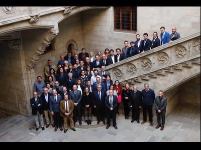 Foto de família del lliurament dels guardons ICREA Acadèmia