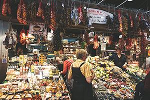 Fotografia d'un mercat
