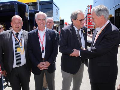 El president Torra al GP de Fórmula 1, al Circuit de Catalunya