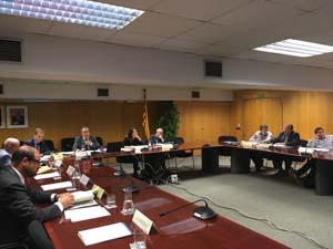 Sessió del consell d'administració de l'ACA celebrada avui.