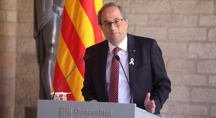 Statement by President Torra after testifying before the High Court of Justice of Catalonia for disobeying the Central Electoral Board