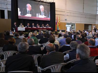 El president, durant la seva intervenció en l'acte. Autor: Rubén Moreno