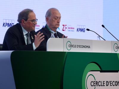 El president Torra a la XXXV Reunió del Cercle d'Economia (Foto: Ruben Moreno)