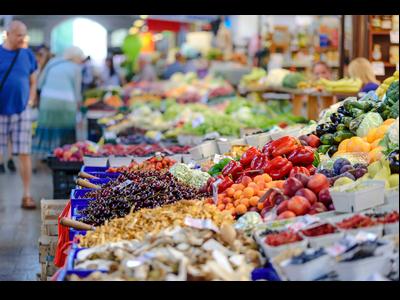 Fotografia de l'interior d'un mercat