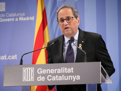 In a statement this evening, the president of the Government of Catalonia, Quim Torra, appealed to the
