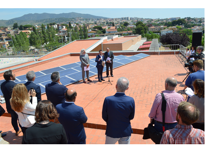Fotografia de l'acte de presentació del projecte de transició energètica