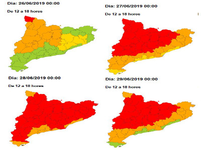 Mapa de risc de calor.