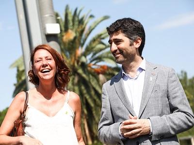 Conseller Puigneró i l'alcaldessa Madrenas a la presentació dels resultats de l'estudi mediambiental que el Laboratori SmartCatalonia