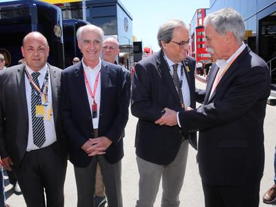 El president Torra durant una visita al Circuit de Barcelona - Catalunya (Imatge arxiu 2919)