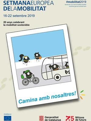 Cartell Setmana Europea de la Mobilitat 2019