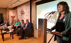 La consellera Teresa Jordà durant la seva intervenció a la presentació de