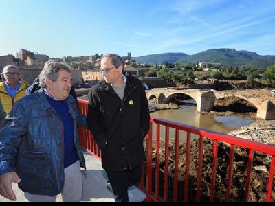 El president amb l'alcalde de Montblanc. Foto: Jordi Bedmar