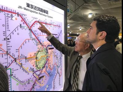 Visita a l'estació central de Tòquio