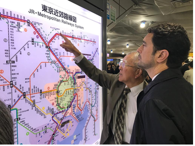 Imatge visita estació central de Tòquio