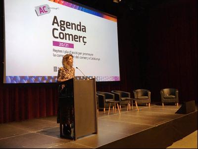 La consellera Ângels Chacón en la presentació de l'Agenda Comerç 20/21