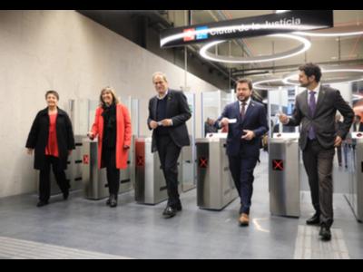 Inauguració metro Ciutat de la Justícia