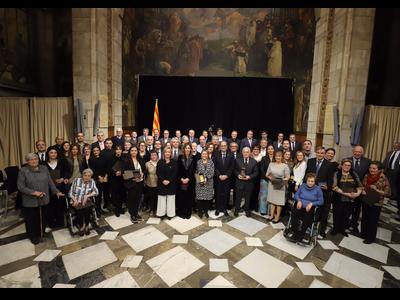 El president Torra ha destacat que la història de Catalunya va lligada a la història dels seus emprenedors (Autor: Rubén Moreno)