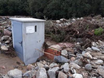 Infraestructures d'abastament en alta afectades pels aiguats.