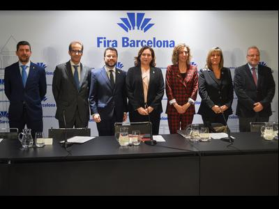 Fotografia de l'acte de presentació del balanç del 2019 de Fira de Barcelona