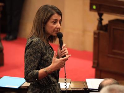 Consellera Budó. Sessió control Parlament
